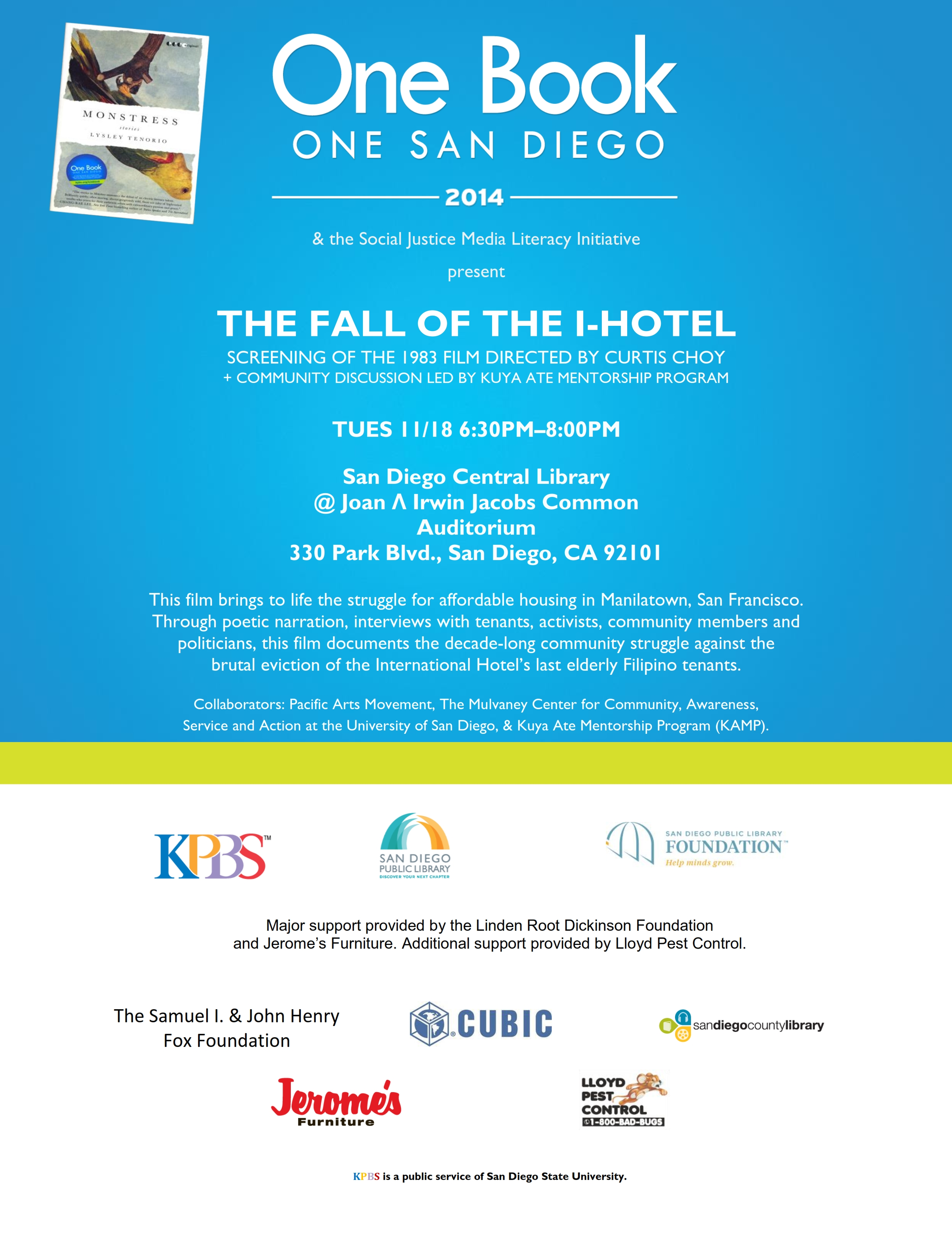"Educational Dialogue: ""Fall of The I-Hotel"" Screening"